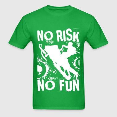 Snowmobile No Risk No Fun - Men's T-Shirt