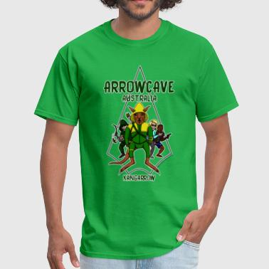 Arrow Cave Logo - Dark - Men's T-Shirt