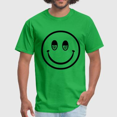 seventies hippie smiley - Men's T-Shirt
