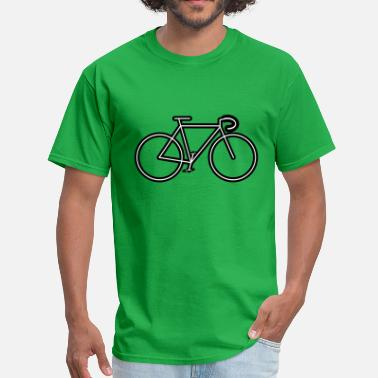 Outline bicycle outline - Men's T-Shirt