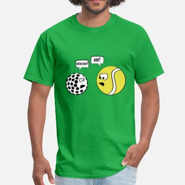 Funny Tennis yellow fever - Men's T-Shirt