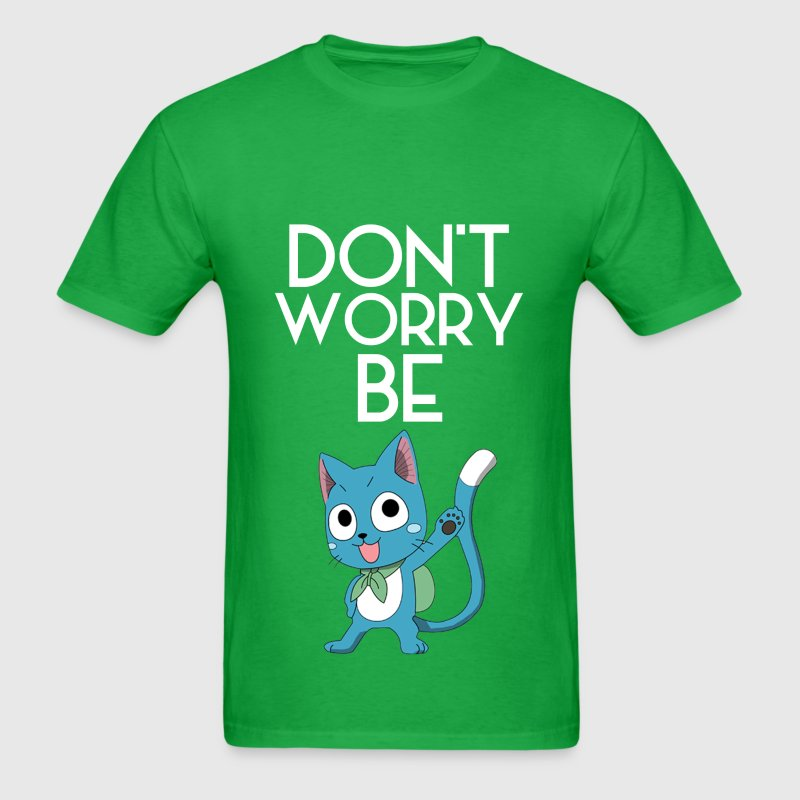 Don't Worry (White) - Men's T-Shirt