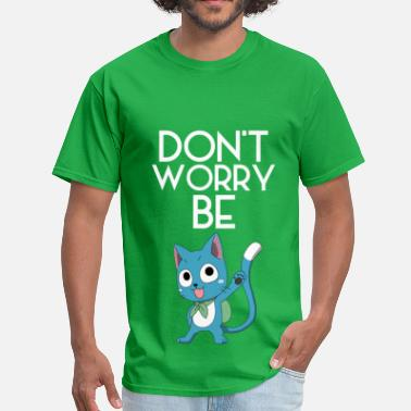 Happy Fairy Tail Don't Worry (White) - Men's T-Shirt