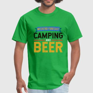 Camping - Weekend Forecast camping Beer - Men's T-Shirt