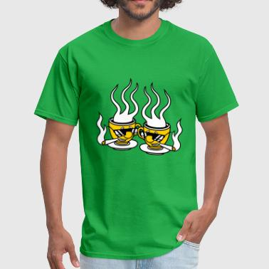 Weed Couples 2 friends team couple cool pothead weed smoking he - Men's T-Shirt