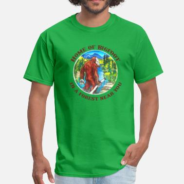 Bigfoot Sasquatch Yeti Yowie Home of Bigfoot  - Men's T-Shirt