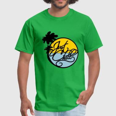 palms sea beach sun circle round just chill relax - Men's T-Shirt