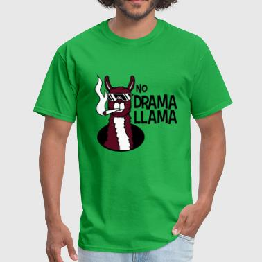 no drama llama joint smoking cool sunglasses hemp - Men's T-Shirt
