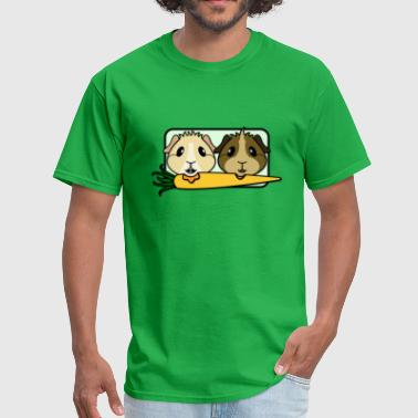 Guinea Guinea Pigs & Carrot - Men's T-Shirt