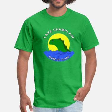 Champ the friendly lake creature. - Men's T-Shirt