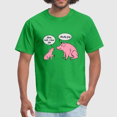Mommy pig and piglet - Men's T-Shirt