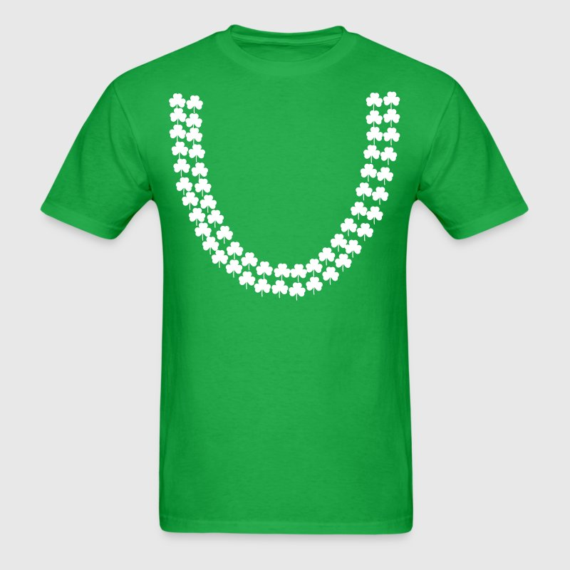 irish shamrock lei - Men's T-Shirt