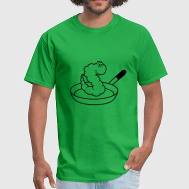 Chef Cook worm pan food hunger cook apron gourmé kitchen gri - Men's T-Shirt