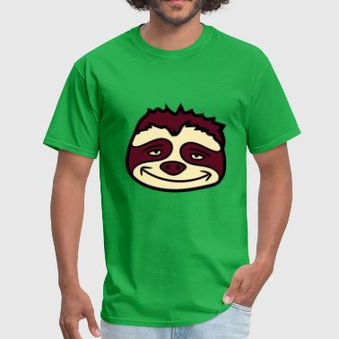 head face sloth relax tired chill hang sleep lazy - Men's T-Shirt