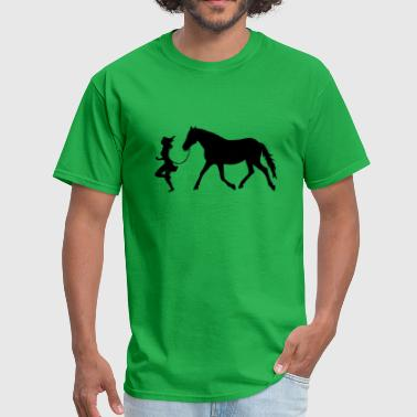 Cavaliere Woman with horse - Men's T-Shirt