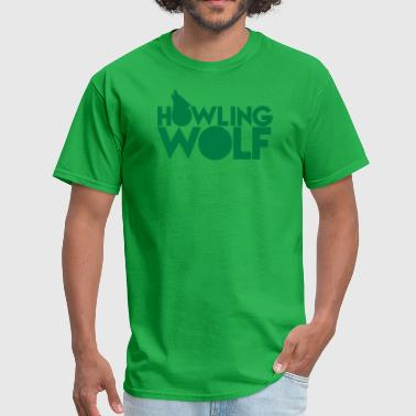 HOWLING WOLF wolves howling at the moon silver - Men's T-Shirt