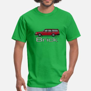 Wagon Volvo 245 240 Series Red Wagon Brick - Men's T-Shirt