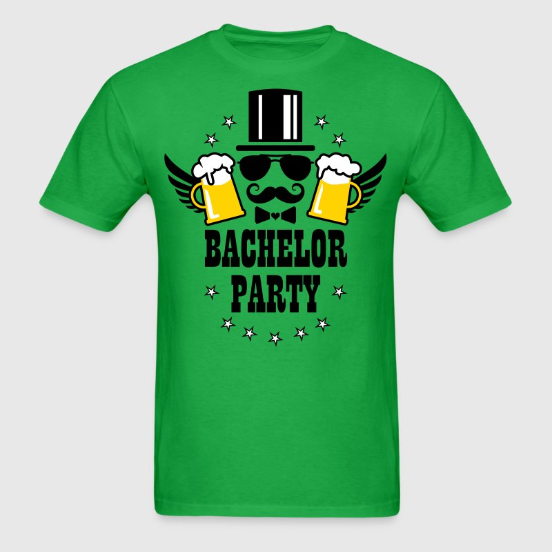 Bachelor Party JGA Zylinder deluxe Bier Beer BFF - Men's T-Shirt