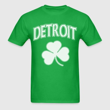 Detroit Irish Shamrock - Men's T-Shirt