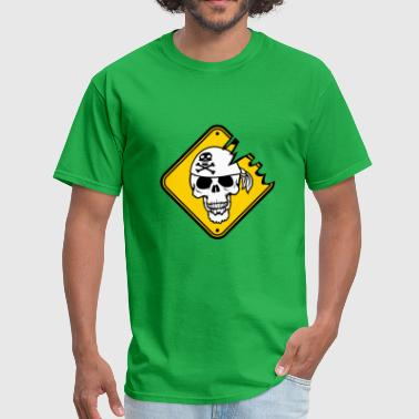 warning danger shield plate captain seaman pirate - Men's T-Shirt
