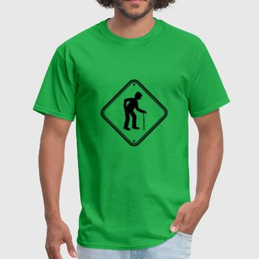 shield caution danger danger caution note warning - Men's T-Shirt
