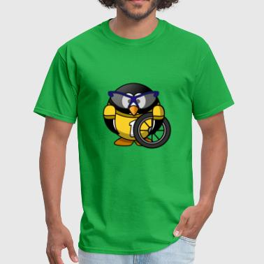 Funny penguin in comic style - Men's T-Shirt