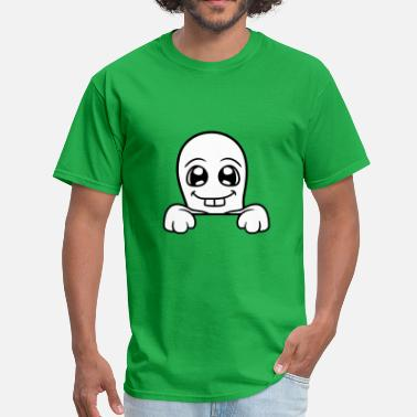 Monster Hide wall wall hiding sweet cute little ghost haunting - Men's T-Shirt