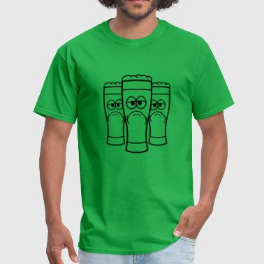 3 friends team crew beer alcohol booze drinking dr - Men's T-Shirt
