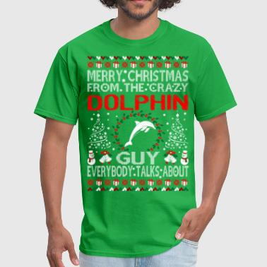 Merry Christmas From Dolphin Guy Ugly Sweater Tee - Men's T-Shirt
