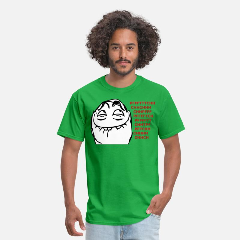 Facebook T-Shirts - pfftch_face_meme - Men's T-Shirt bright green