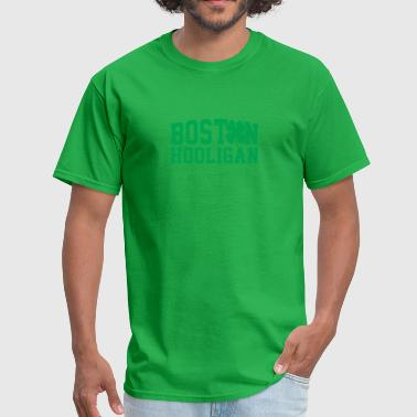 St Patricks Day Boston Boston Hooligan Green Shamrock St Patricks Day - Men's T-Shirt