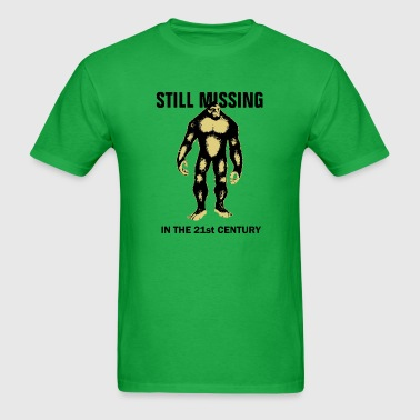 Funny Bigfoot missing - Men's T-Shirt