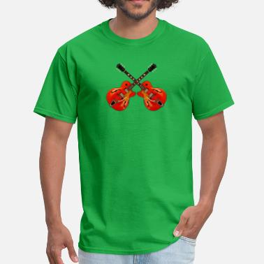 Red Guitar red electric guitars - Men's T-Shirt