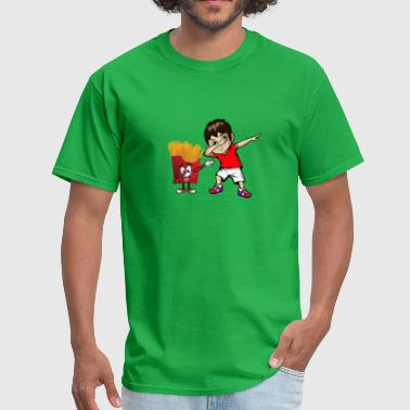 Fries Kids Dabbing Boy Dance Kid Meme Jersey Dab French Fries - Men's T-Shirt