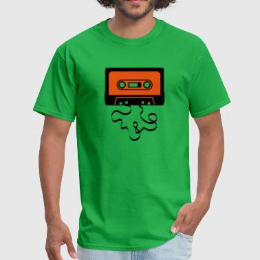 Old School Tape audio tape cassette recorder cassette player deck  - Men's T-Shirt