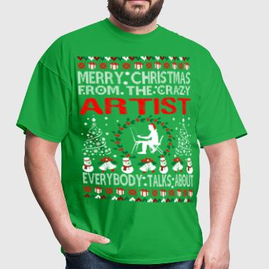 Merry Christmas From Artist Ugly Sweater Tshirt - Men's T-Shirt