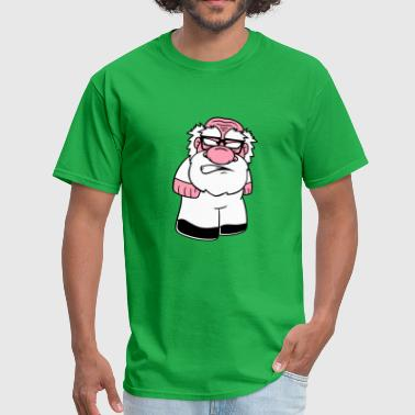 dwarf small mini face head angry angry angry sour - Men's T-Shirt