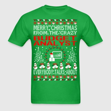 Merry Christmas From Budget Analyst Ugly Sweater - Men's T-Shirt