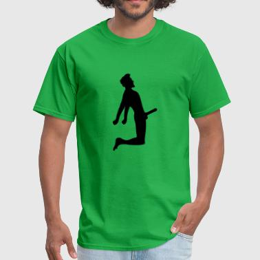 penis tall man male gay gay love sexy hot sitting - Men's T-Shirt