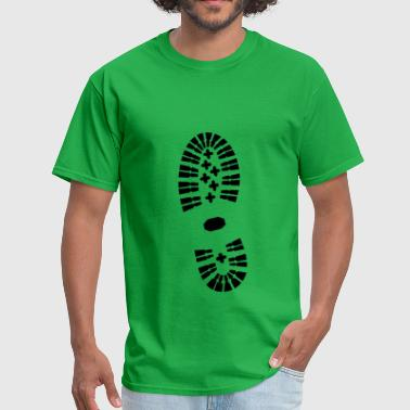 Shoe Print, Shoe, Boot Print - Men's T-Shirt