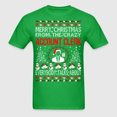 Merry Christmas Account Clerk Ugly Sweater Tee - Men's T-Shirt