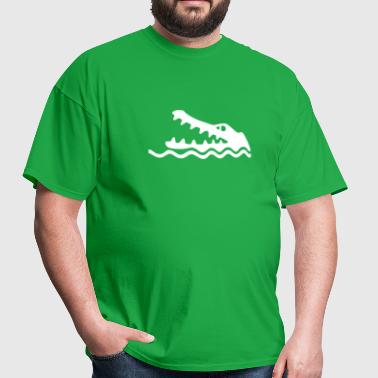 Crocodile/Alligator Warning - Men's T-Shirt