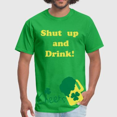 Cheers green beer shamrock vector  - Men's T-Shirt