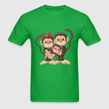 monkey sweet family - Men's T-Shirt