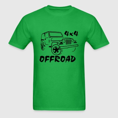 4x4 offroad jeep 4 Wheel Car - Men's T-Shirt