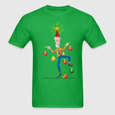 Merry Christmas Tree Man - Men's T-Shirt