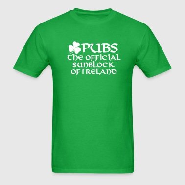 Pubs, the official sunblock of Ireland - Men's T-Shirt