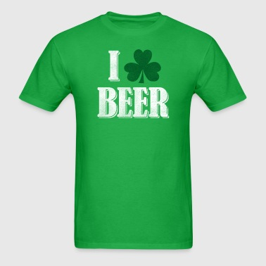 I Shamrock Beer - Hunter - Men's T-Shirt