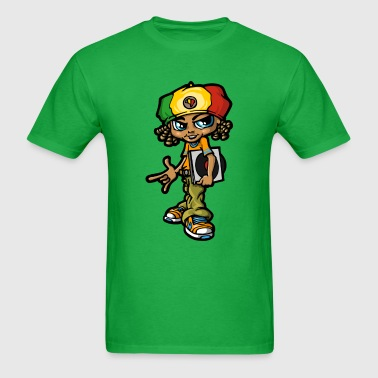 Reggae boy and vinyls - Men's T-Shirt