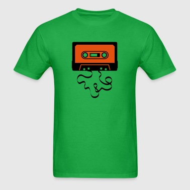 audio tape cassette recorder cassette player deck  - Men's T-Shirt